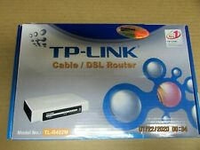NEW (4 PORT) TP-LINK, (CABLE / DSL ROUTER), MODEL TL-R402M