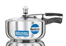 Indian Stainless Steel Hawkins 3 Litter Pressure Cooker Wide Base Food Steamer