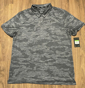 Nike Golf Zonal Cooling Fit Dry Mens Gray Camouflage Golf Polo Shirt Size XL