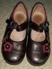 Startrite Girls Paignton Bergandy Buckle Shoes Size 7.5 G