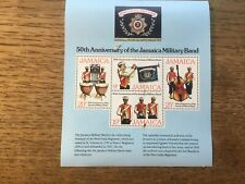 Mint Jamaica Military Bands Mini Sheet Stamps