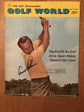 "December 9, 1969 Arnold Palmer ""Autographed"" (JSA) Golf World Magazine"