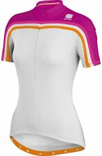 Sportful Women's Allure Short Sleeve Cycling Jersey - White/Plum (Size Large)