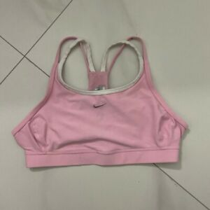 Nike Baby Pink Sports Bra Size Small Pre-Owned