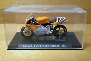 DUCATI 996R Moto GP Motorcycle Neil Hodgson 2001 Season IXO Replica Model *VGC*