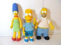 The Simpsons Vintage Plush Dolls 1990 Matt Groening Homer Marge & Bart