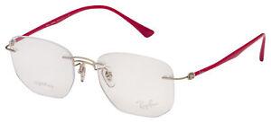 Ray-Ban Eyeglasses RX 8757 1195 53 Silver; Purple-Reddish Frame [53-18-140]