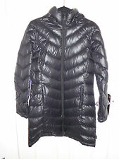 LADIES ANDREW MARC PREMIUM DOWN PADDED COAT WITH HOOD - SIZE L - BLACK - NEW