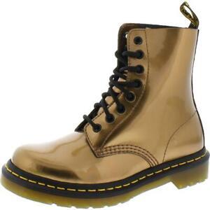Dr. Martens Womens Pascal Patent Metallic Fashion Combat Boots Shoes BHFO 4240