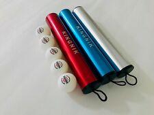 3 Star Table Tennis Balls (5) With Aluminium Ball Tube Roller Present Gift