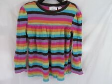 Jumping Beans Top Shirt Long Sleeve Multi Color Stripes Size 6  #7147