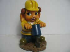 New Pendelfin Mac figurine Construction worker with Jackhammer New in Box