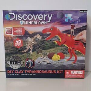 Discovery #Mindblown DIY Clay Tyrannosaurus Kit Puzzle Play Dinosaur Model
