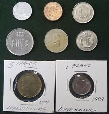 LUXEMBOURG LOT 8 COINS COLLECTION LIETZEBUERG 25 CMES 1 5 10 FRANCS 2 EURO CENT