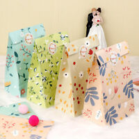 OurWarm 12x Flowers Paper Gift Bags Candy Bag birthday party Watercolor Gift Bag