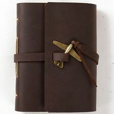 Ancicraft Leather Journal Handmade Vintage Airplane A6 Lined Papers Unique Gift