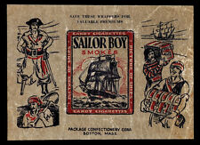1933 R135 Package Confectionary Beautiful Ships Sailor Smokes Wrapper RARE!