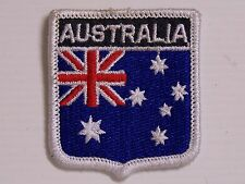 VINTAGE AUSTRALIA EMBROIDERED PATCH SHIELD WOVEN CLOTH BADGE SEW-ON AUSSIE FLAG