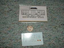 Oddballs decals N Gauge Chicago Great Western PS2 CD grain ptd grey  H50