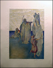 Guillaume Azoulay DORE SUITE Dream & Agar Hand Signed Etching w/ Embossing OBO