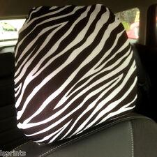 SEDILE AUTO TESTA SUPPORTO COPERTURA confezione da 2 NERO & bianco zebrato