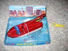 "Vintage Rare 70s Batman Tv Series Eidai Grip 5"" Toy Bat Boat Batboat Japan Mib"