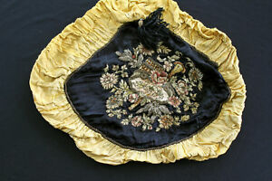 FRENCH ANTIQUE 18TH CENTURY EMBROIDERED PILLOW CASE