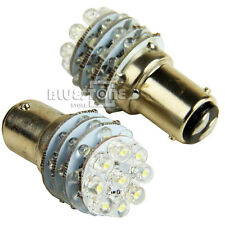 New 2Pcs 12V 36 LED BA15D 1157 Globe For Caravan Boat Anchor Brake Light Bulb !