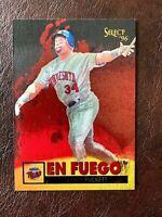 KIRBY PUCKETT 1996 SELECT EN FUEGO CARD #14 HOF MINNESOTA TWINS NEW MINT