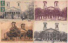 Lot 4 cartes postales anciennes LA-ROCHE-SUR-YON église saint-louis 1