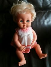 Vintage Palitoy Tiny Tears Doll - Closing Eyes, Original Dress, Top Knot