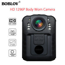 Boblov Police Body Worn Camera DVR HD 1296P Night Vision Infrared H.264 NT96650