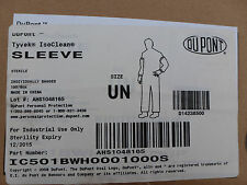 100 ct DuPont Tyvek IsoClean Universal Sleeve White Sterile IC501BWH0001000S