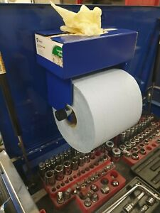 Blue Roll Paper Holder with Latex/vinyl glove box holder with magnetic mounting