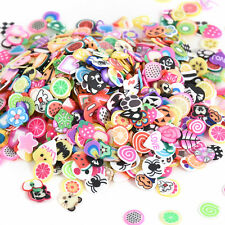 1000pcs Lovely Fruit Animals Fimo Slice Clay Nail Art Tips Glitter Crafts Decor