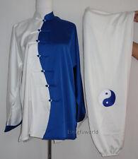 Unisex Silk Embroidery Tai chi Wing Chun Suit Wushu Kung fu Martial arts Uniform