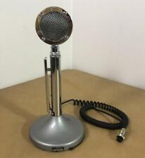 VINTAGE ASTATIC D-104 TABLE MICROPHONE & T-UG9 STAND 5 PIN PLUG CB HAM RADIO