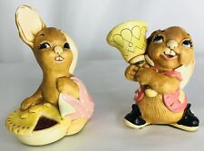 Rare Collectibles Pendelfin Rabbit Figurines Pieface and Clanger - Lot of 2