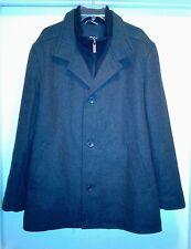 Men Nautica Pea Coat Jacket Size XL Black Gray