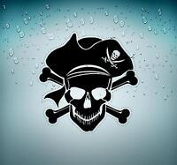 Autocollant sticker voiture corsaire decoration mural pirate bateau chambre r9
