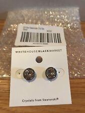 New WHBM SWAROVSKI Crystal Stud Earrings