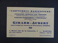 Carte de visite Visit card CDV NANTES GIRARD AUBERT Goodrich courroie ventiflex
