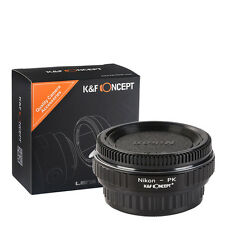 K&F Concept adapter with glass for Nikon F mount lens to Pentax K camera DS DL