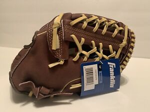 "FRANKLIN 12"" Pro Series Leather Baseball Glove Right Hand Throw RHT Brown New"