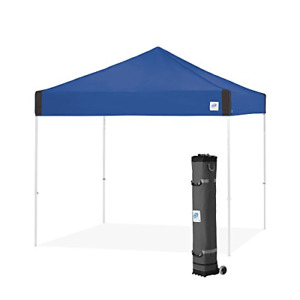 E-Z UP Pyramid Instant Shelter   PR3WH10RB   10 by 10' Royal Blue   Portable ...