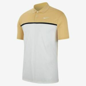 Nike Dry Victory Color YELLOW Golf Polo MENS CN0966-251 LARGE TPC GOLD SUNDAY