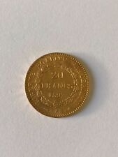 SUPERBE pièce de 20 francs en OR au Génie 1897 A Excellent état SUP