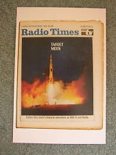 New Postcard Apollo 11 Moon landing Vtg Radio Times cover July 1969 Space Rocket