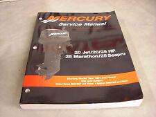 Mercury Factory Service Manual  20Jet/20/25Hp 25Mara/seapro 90-826883ro3   4-4-3