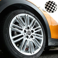 Checker Hub Cap Emblem FIT Mini cooper S JCW R55 R56 F55 F56 R57 R60 clubman